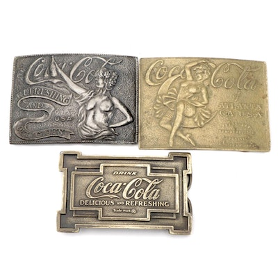Coca-Cola Brass Belt Buckle from Bergamot Brass Works and More Buckles