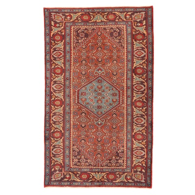 4'2 x 6'11 Hand-Knotted Persian Bijar Area Rug, 1960s