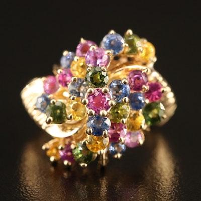 14K Multi-Color Sapphire Ring