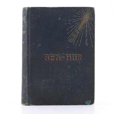 "First Edition, Later Printing ""Ben-Hur"" by Lew Wallace, 1880s"