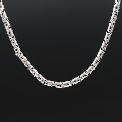 Sterling Byzantine Chain Necklace