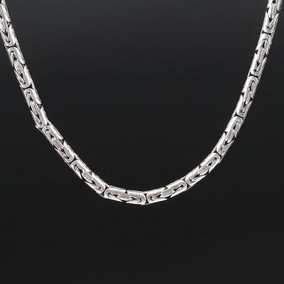 Sterling Byzantine Chain Necklace