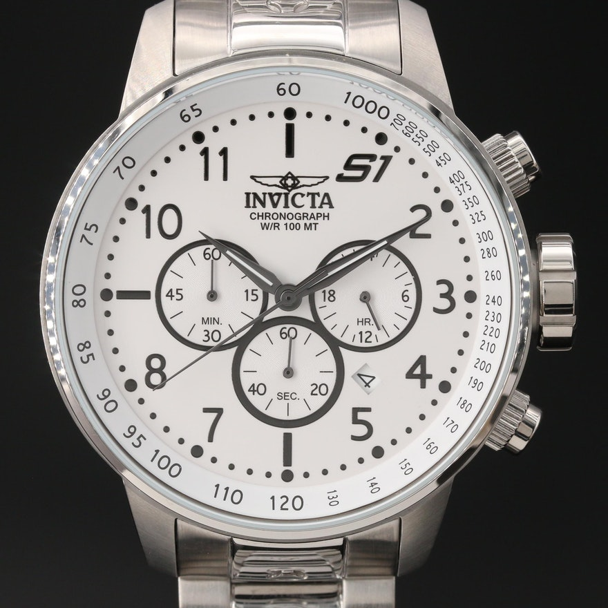 Invicta S1 Rally Chronograph Stainless Steel Quartz Wristwatch