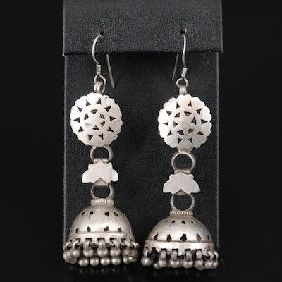 Sterling Silver Jhumka Earrings