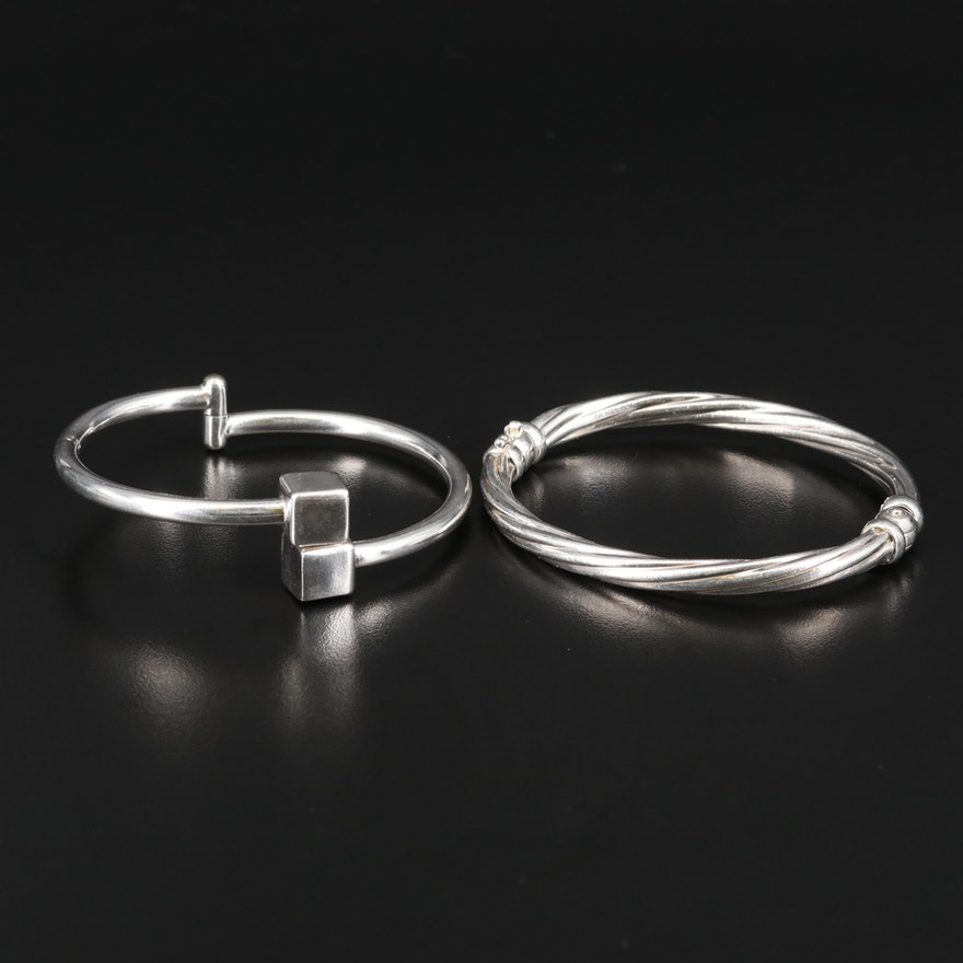 Sterling Twisted and Bypass Bangles
