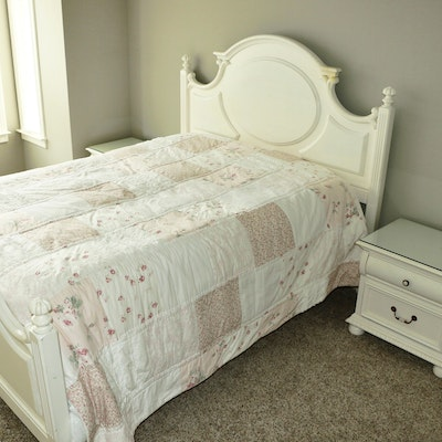 """Lexington """"Country Cottage Collection"""" Queen Size Bed Frame with Two Nightstands"""