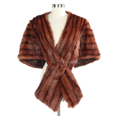 Mahogany Dyed Marmot Fur Stole from Jenny of Cincinnati