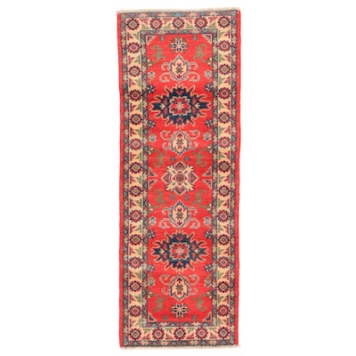 2'1 x 5'8 Hand-Knotted Afghan Persian Tabriz Carpet Runner, 2010s