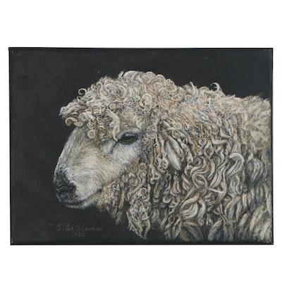 Siân Sloman  Oil Painting of a Sheep, 2020