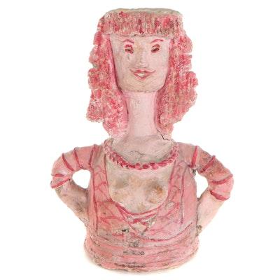 "Franklin Folger Mixed Media Sculpture ""Renee,"" 1970"