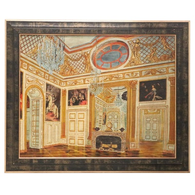 M. P. Gerald Interior Scene Oil Painting, 20th Century
