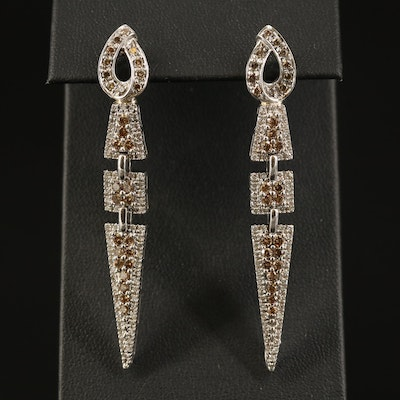 14K 2.14 CTW Diamond Dangle Earrings