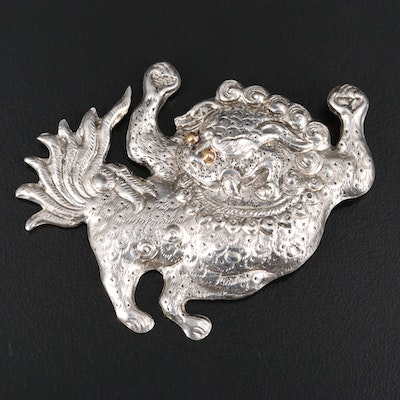 Tibetan Snow Lion Brooch