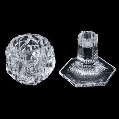 """Tiffany & Co. """"Rock Cut"""" Votive and Other Candle Crystal Holder"""