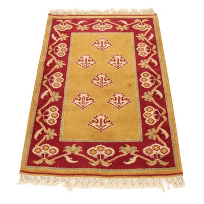 2'10 x 4'6 Hand-Knotted Turkish Village Accent Rug, 2000s
