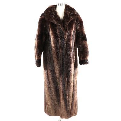 Revillon for Saks Fifth Avenue Beaver Fur Full-Length Coat