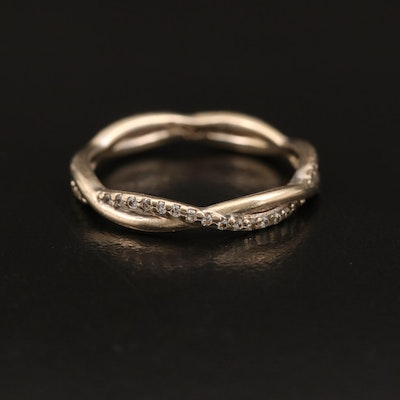 18K Diamond Crossover Eternity Band