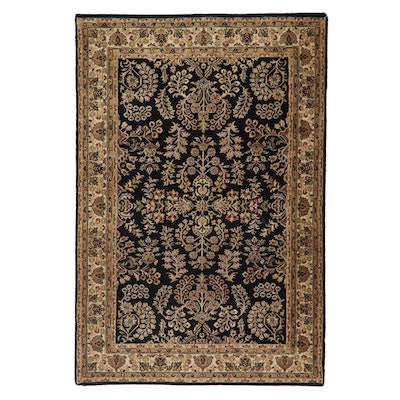 4'1 x 6'0 Hand-Knotted Indo-Persian Tabriz Area Rug, 2000s