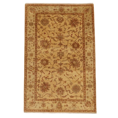5'10 x 9'1 Hand-Knotted Afghan Turkish Oushak Area Rug, 2000s