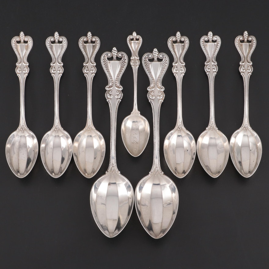 "Towle ""Old Colonial"" Sterling Silver Spoons, Late 19th/Early 20th Century"