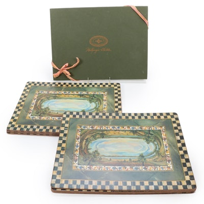 """MacKenzie-Childs for Pimpernel """"Cloud Watching"""" Hard Cork Backed Placemats"""
