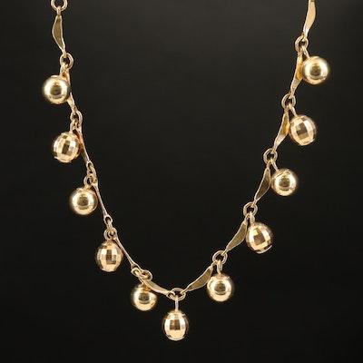 14K Orb Fringe Necklace