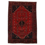 6'9 x 9'11 Hand-Knotted Persian Zanjan Area Rug, 1960s