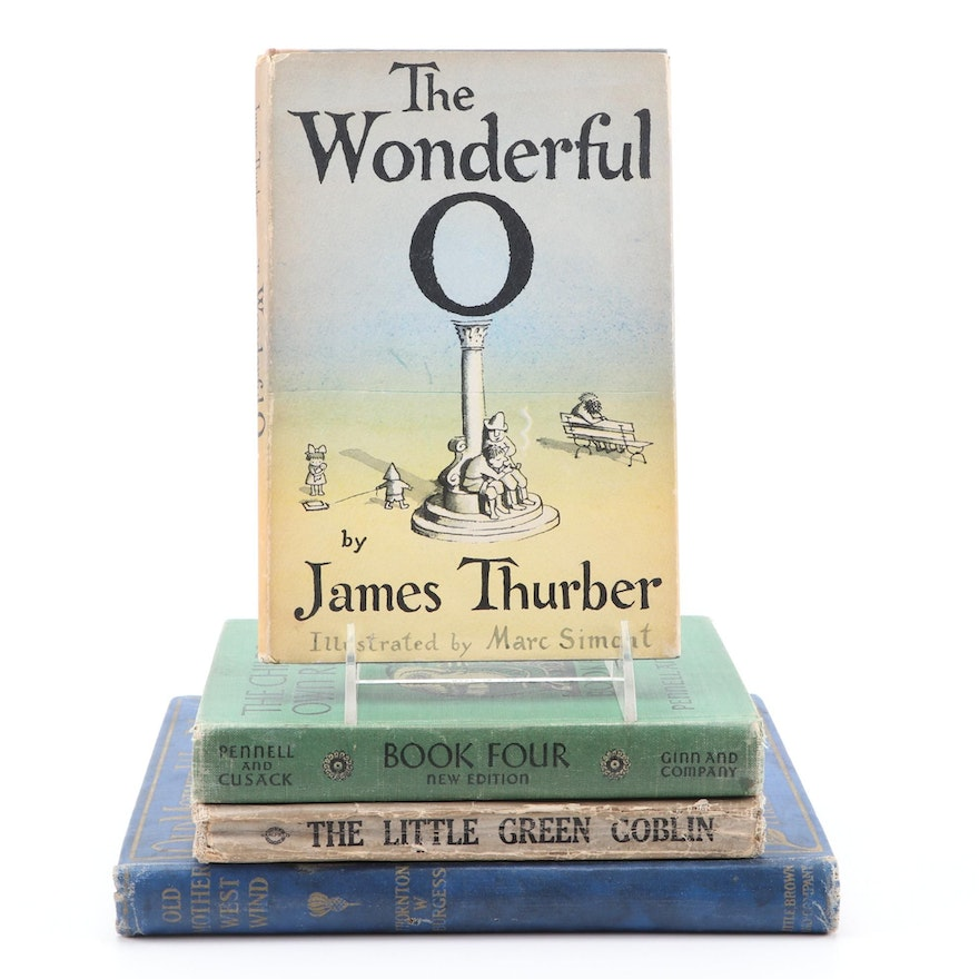 """First Printing """"The Wonderful O"""" by James Thurber and More Children's Novels"""