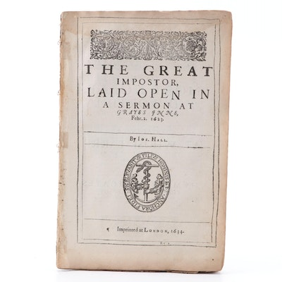 """The Great Impostor"" and More Sermons by Joseph Hall, 1634"