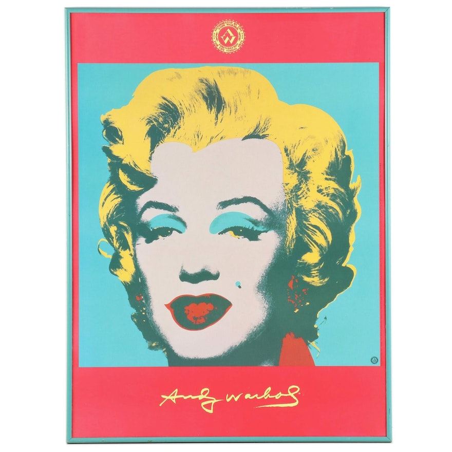 "Offset Lithograph Poster after Andy Warhol ""Marilyn,"" 1996"