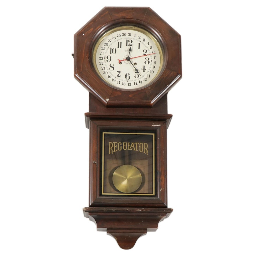 New England Clock Company 14 Day Cathedral Gong Regulator, Late 20th Century