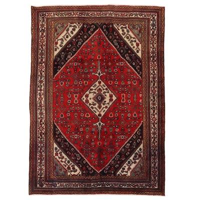 6'10 x 9'6 Hand-Knotted Persian Zanjan Area Rug, 1960s