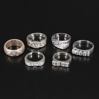 Cubic Zirconia Rings Featuring Sterling Silver