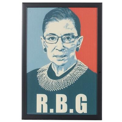 Giclée of Ruth Bader Ginsburg, 21st Century