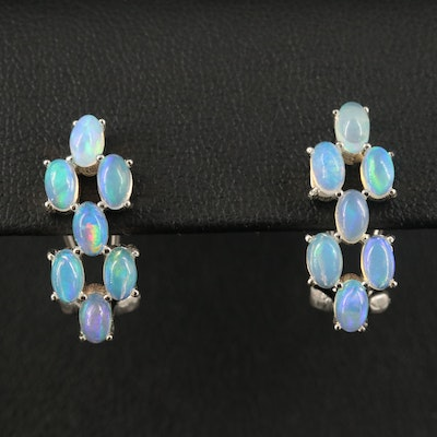 Sterling Opal Drop Earrings