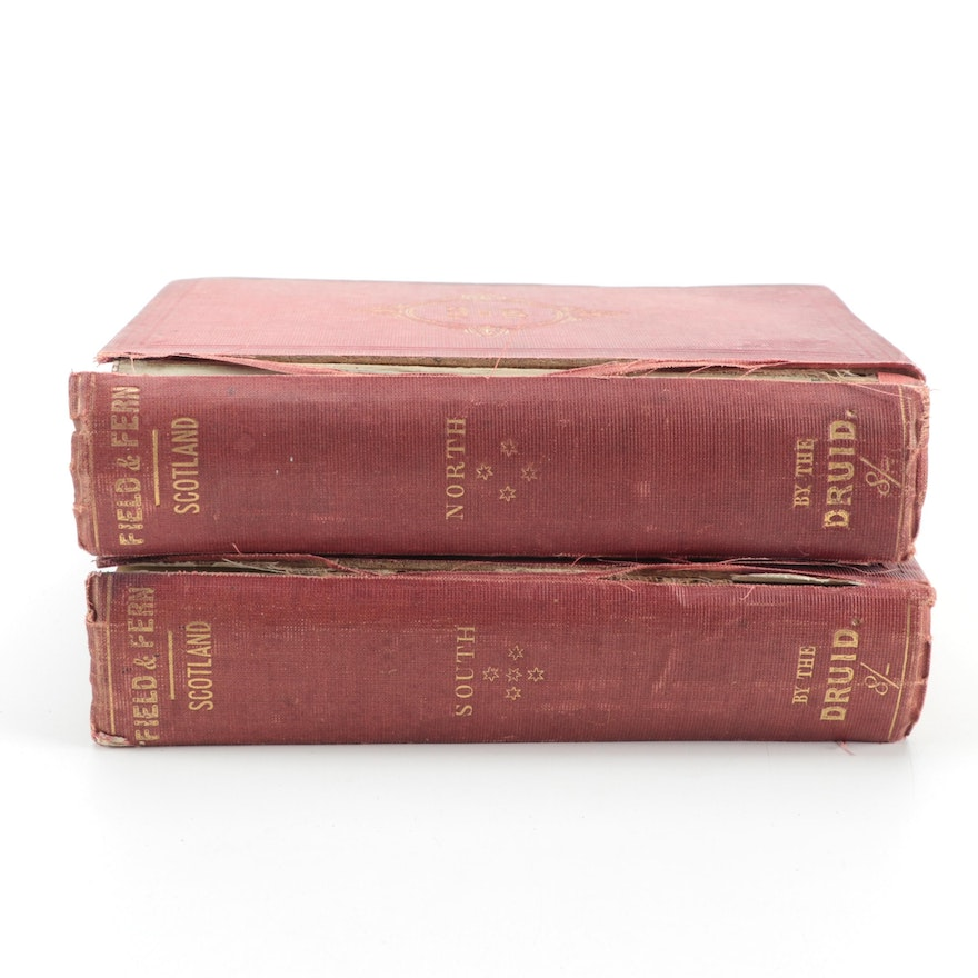 """""""Field and Fern; or, Scottish Flocks and Herds"""" Two-Volume Set by H. Dixon, 1865"""