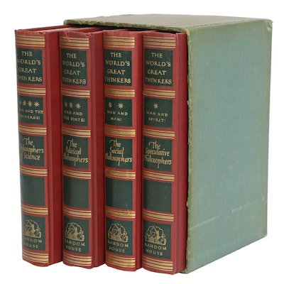 """""""The World's Great Thinkers"""" Complete Set Edited by Commins and Linscott, 1947"""