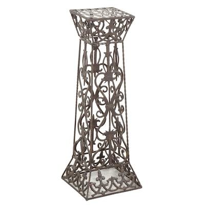 Cast and Welded Metal Plant Stand, Late 20th Century