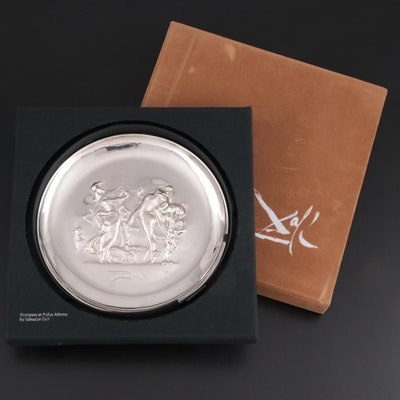 Lincoln Mint Bas-Relief Sterling Silver Plate after Salvador Dalí, 1972