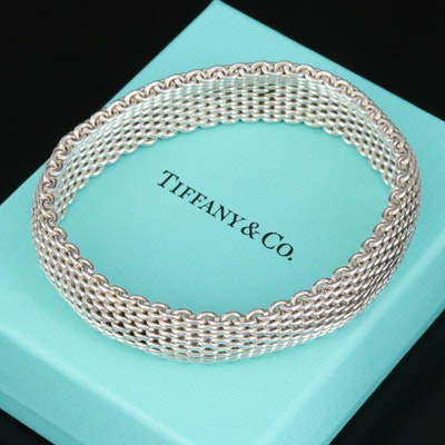 "Tiffany & Co. ""Somerset"" Sterling Silver Bangle Bracelet"