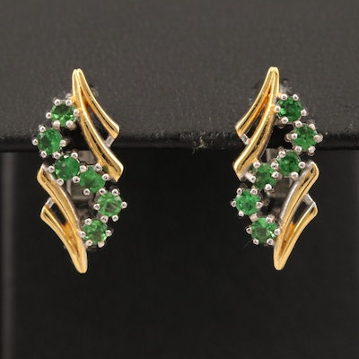 Sterling Tsavorite Earrings