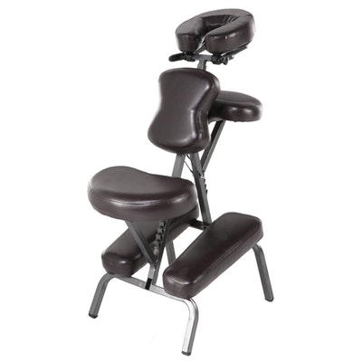 Collapsible Faux Leather Massage Chair