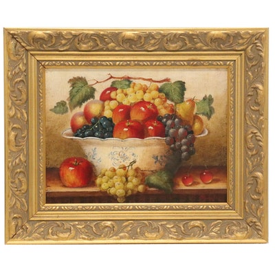Fruit Still Life Oil Painting, 21st Century