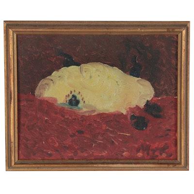 "Mitch Ian Colker Folk Art Oil Painting ""El Alamein II"""