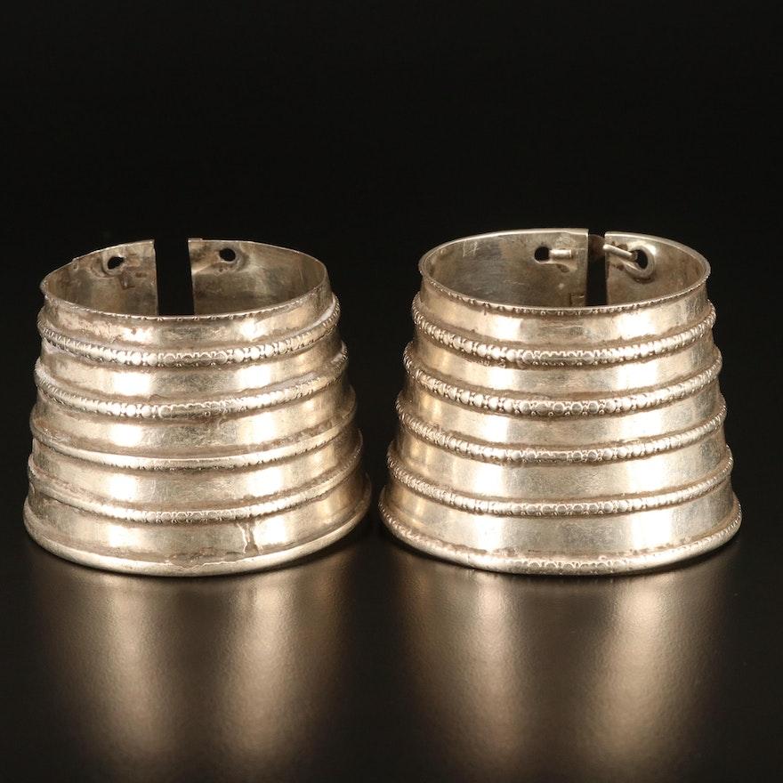 Indian Rajasthani 800 Silver Graduated Cuffs