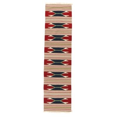 2'7 x 10'3 Handwoven Indo-Turkish Kilim Carpet Runner, 2000s