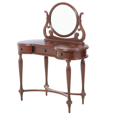 The Bombay Company Federal Style Mahogany-Stained Vanity Table