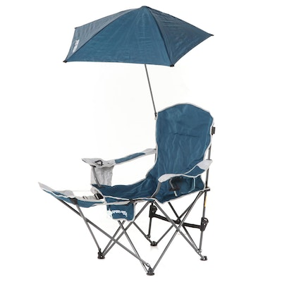 Sport-Brella Folding Reclining Camp Chair with Attached Umbrella