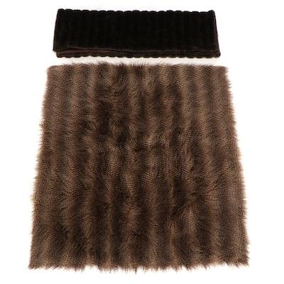 Raccoon and Mink Faux Fur Throw Blankets