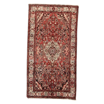 5'0 x 9'6 Hand-Knotted Persian Zanjan Area Rug, 1970s
